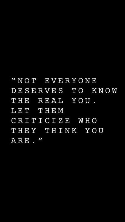 not everyone deserves