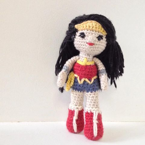 Wonder Woman Knitted Doll