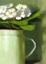 Spring Green Flowers Painting