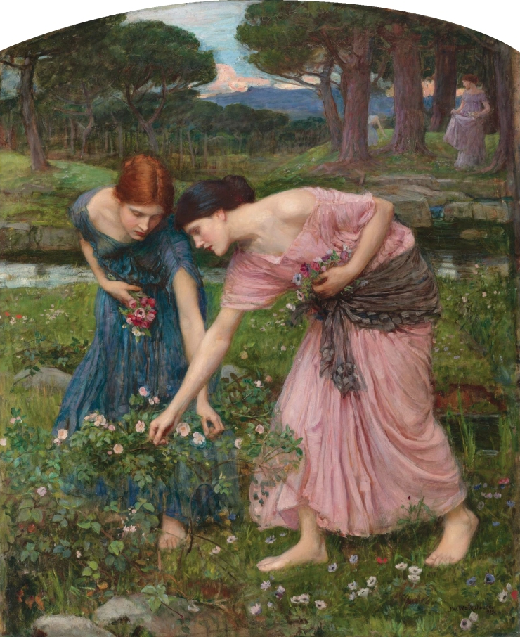 Gather Ye Rosebuds While Ye May, by John William Waterhouse