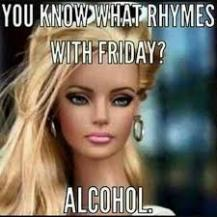 rhymes with Friday